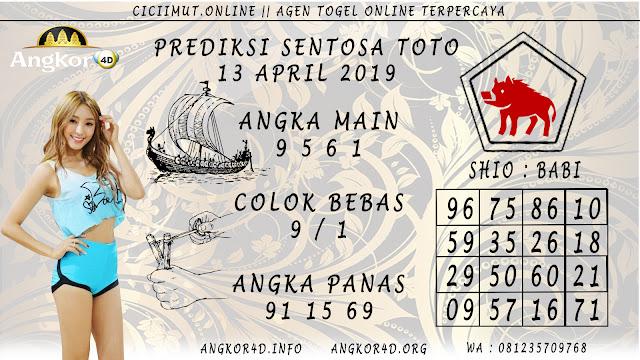 Prediksi Angka Jitu SENTOSA TOTO 13 APRIL 2019