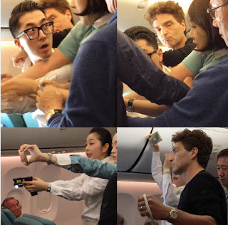 Singer Richard Marx and wife Daisy Fuentes encountered unexpected turbulence on flight from Vietnam to South Korea.