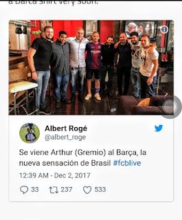 Brazilian superstar drops huge hint of  Barcelona Move