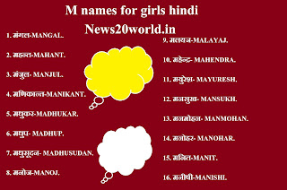 M name list hindi