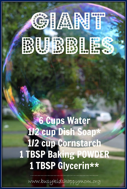 Giant Bubble Recipes from Busy Kids Happy Mom