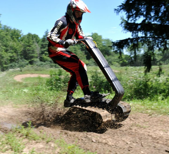 Segways Are For Sissies Check Out Dtv also Watch additionally Watch as well Dtv Shredder All Terrain Segway Skateboard moreover The Magic Carpet Is A Custom Built Personal Tracked All Terrain Vehicle Powered By A Go Kart Engine. on all terrain tracked vehicles