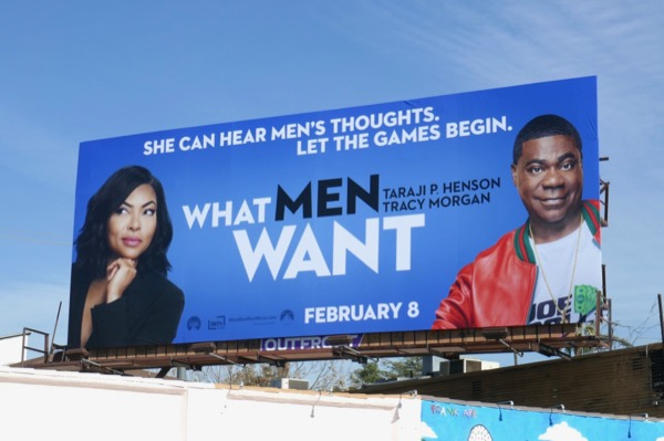 What Men Want film billboard