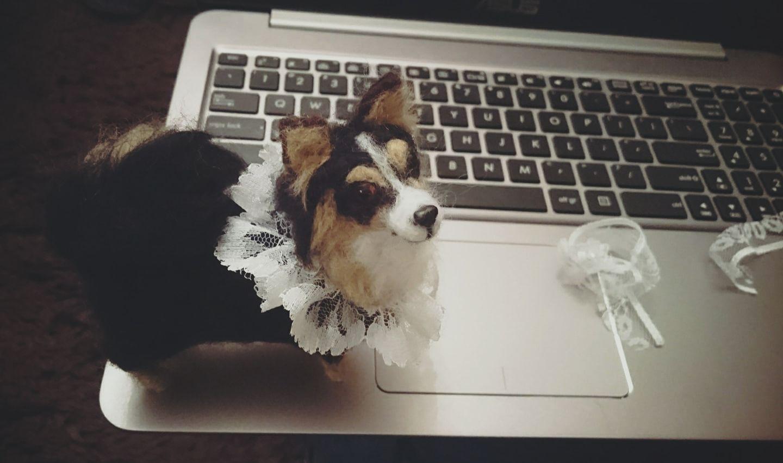 Nynuś - filcowy portret wyjątkowego psa :)