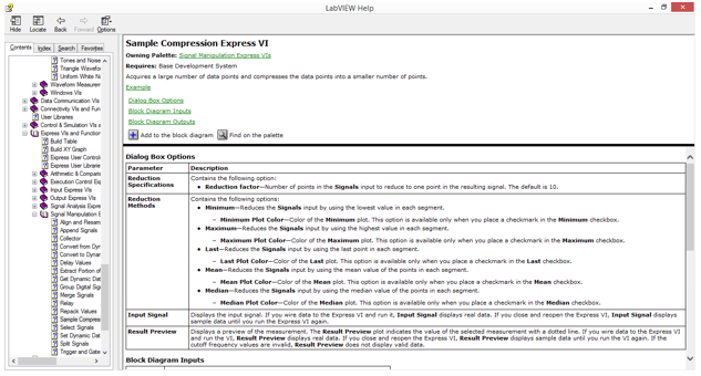 Medical instrument view quick drop find easily the item configure the sample compression express vi to reduce the signal by a factor 25 using the mean of these values ccuart Choice Image