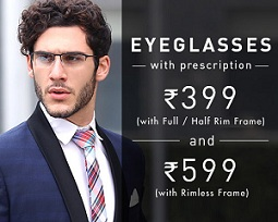 Deal of the Day: Eyglasses with Full / Half Rim Frame & Power Lens for Rs.399 | Eyglasses with Rimless Frame & Power Lens for Rs.599 Only @ Lenskart