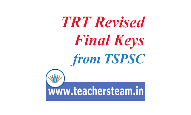 TRT Revised final keys from TSPSC