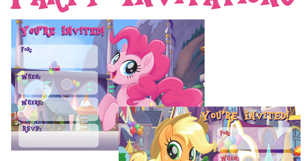 image about My Little Pony Invitations Free Printable referred to as Musings of an Regular Mother: My Minor Pony Video clip Invites