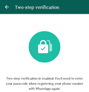 WhatsApp Two-step Verification Screen