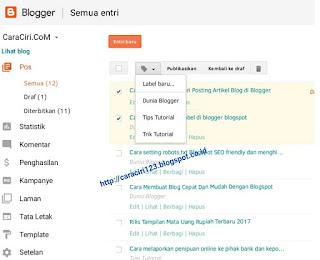 fungsi label blog yaitu dimana pengunjung blog bisa dengan mudah menemukan artikel yang ingin di lihatnya