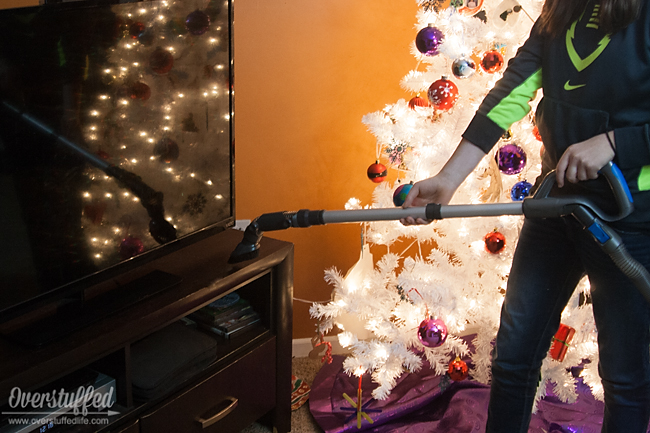 Use your vacuum to quickly dust.