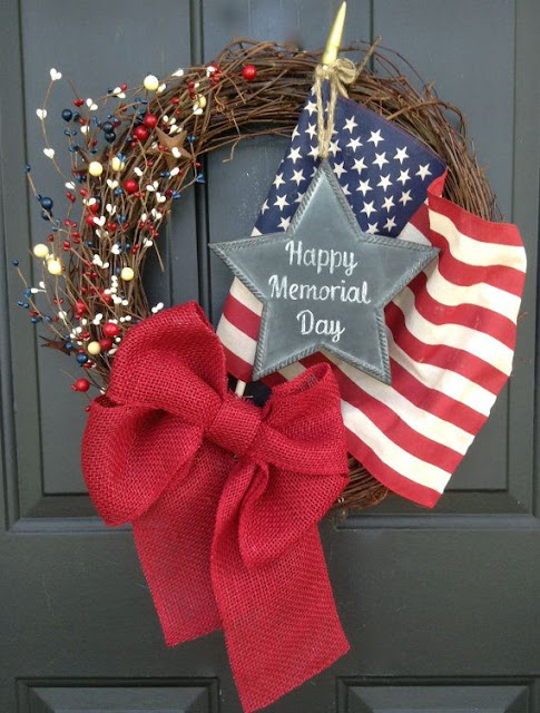 patriotic wreaths for front door