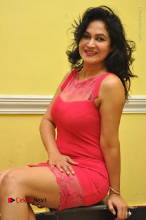 Telugu Actress Vijaya Murthy Stills in Red Short Dress at Www.Meena Bazaar Movie Opening  0076.JPG