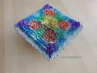 3D schilderij, canvas van gerold papier