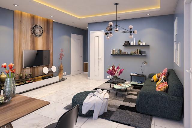Thiết kế phòng khách Tabudec Plaza
