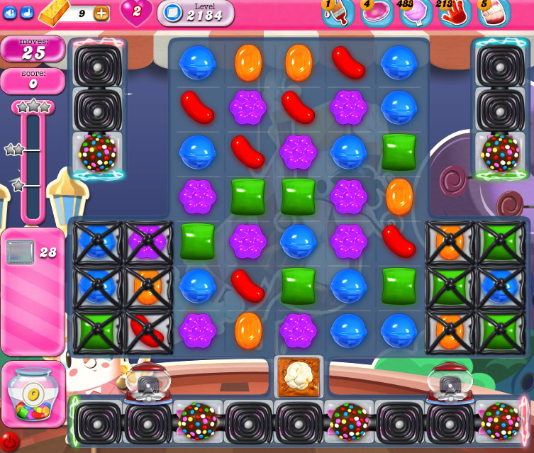 Candy Crush Saga level 2184