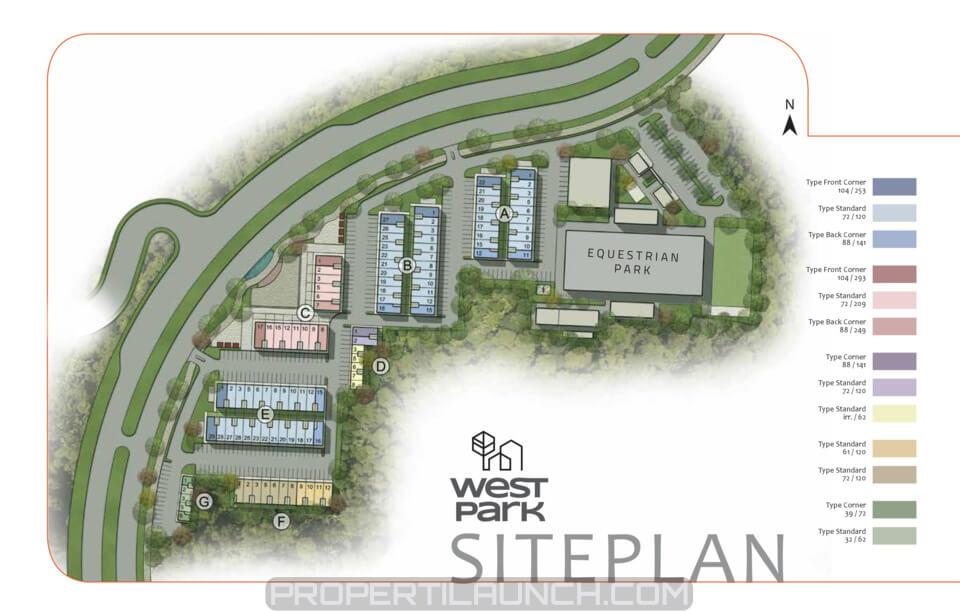 Site Plan Ruko West Park BSD