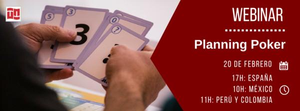 Webinar gratuito de Planning Poker - Febrero de 2018