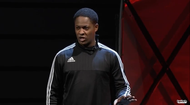 Alex Hunter FIFA Electronic Arts E3 2016 on stage