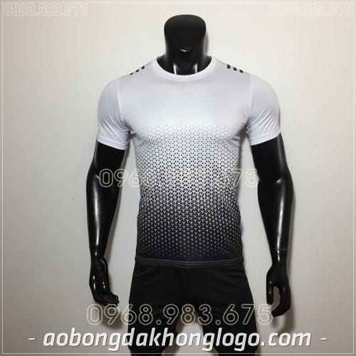 Áo Bóng Đá Ko Logo Adidas CB Trắng
