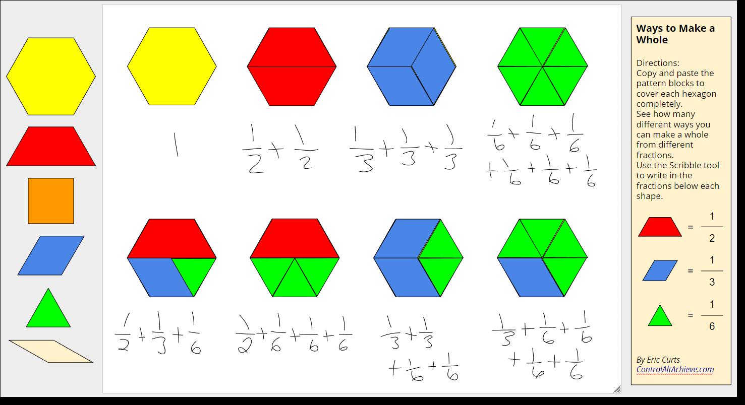 Control Alt Achieve Pattern Block Templates And