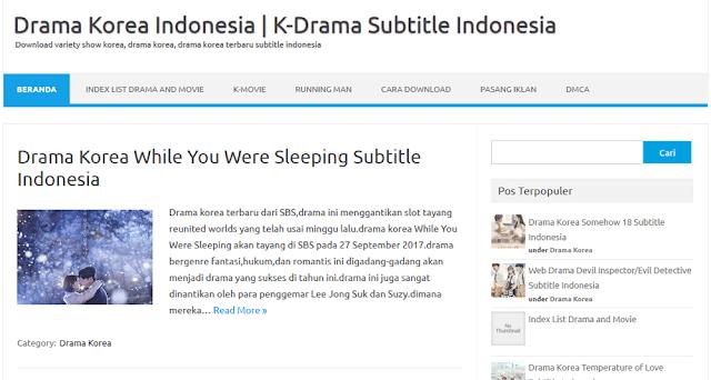 Situs Download Film Drama Korea Terbaru