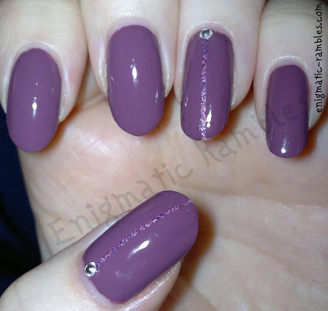 Girly-Floam-Ninja-Polish-Leighton-Denny-Crushed-Grape-Striping-Tape-Nails-Nail-Art