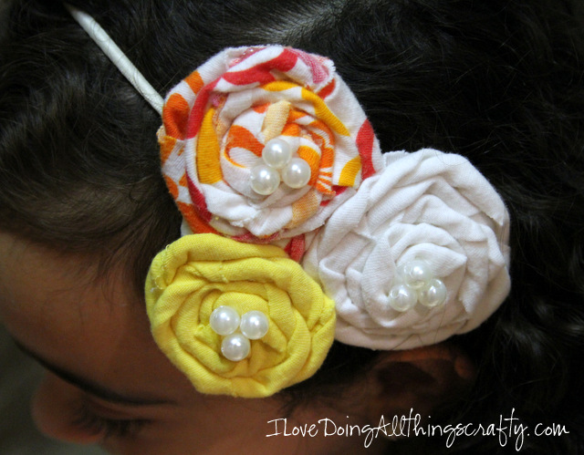 DIY No Sew Floral Headband