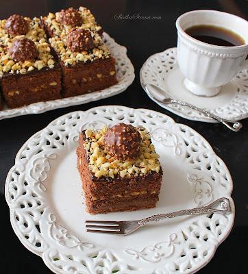 Ciasto Ferrero Rocher bez Pieczenia - Przepis - Słodka Strona