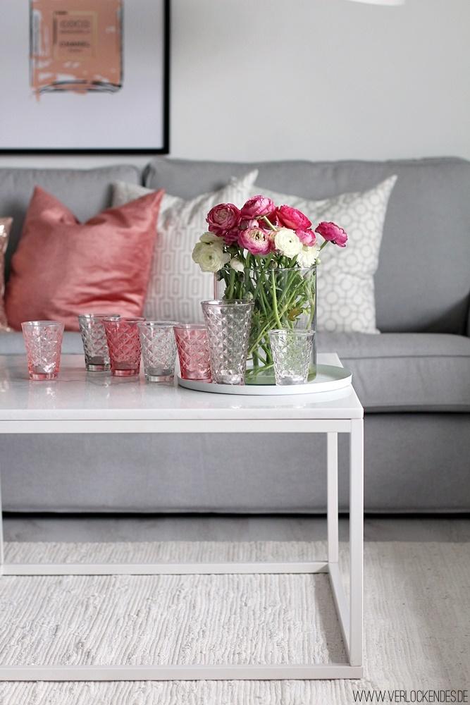 Verlockendes wohnzimmer in fr hlingsfarben for Marmortisch modern