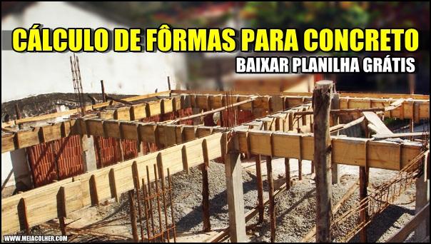 formas de concreto na construção