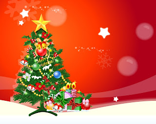 Awesome merry Christmas tree wallpaper
