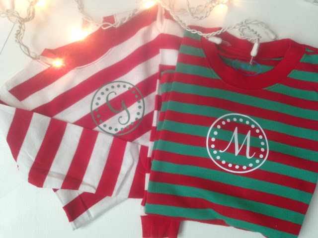 personalized, christmas pjs, christmas blanks, heat transfer vinyl, htv