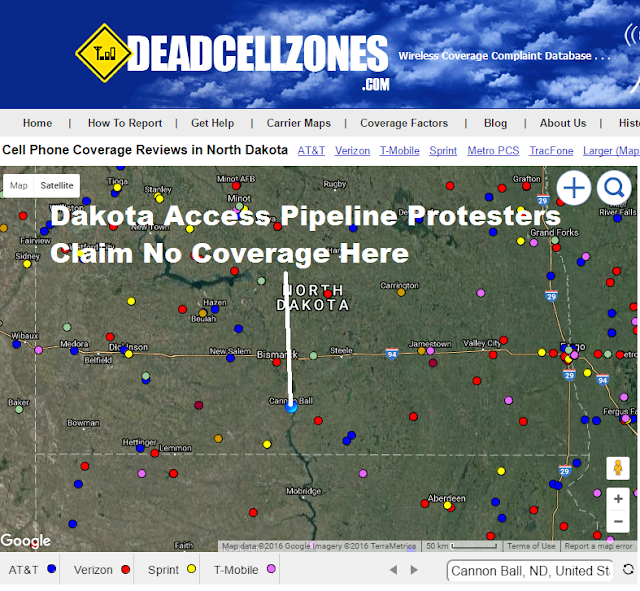 Dakota Access Pipeline Protesters Claim Poor Cell Phone Coverage Here