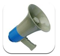 برنامج Megaphone مكبر الصوت على الأيفون