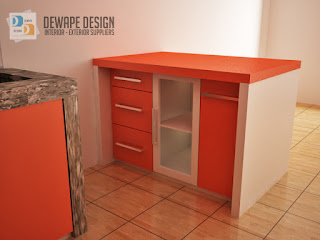 kitchen set orange malang dewape