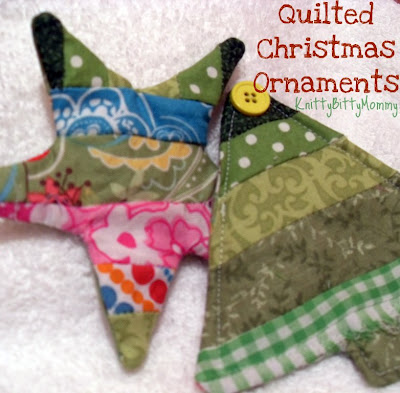 """""""Quilted Christmas Ornament Tutorial"""" is a Free Quilted Christmas Ornament Pattern designed by Ashley from Knitty Bitty Mommy"""