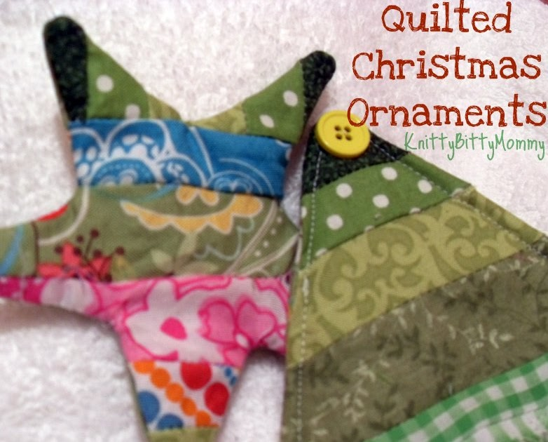 Quilted Christmas Ornaments.Knittybittymommy Quilted Christmas Ornament Tutorial