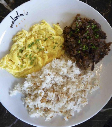Marinated beef tapa