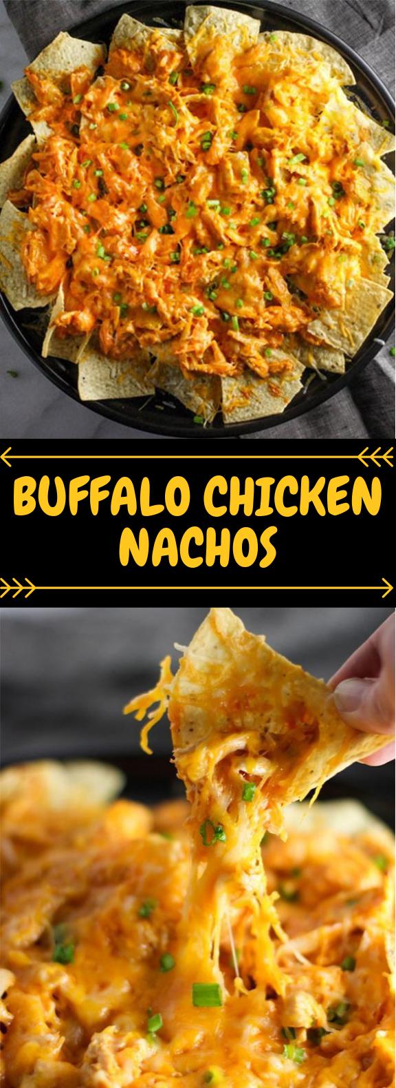 Buffalo Chicken Nachos #Appetizer #EasyRecipe