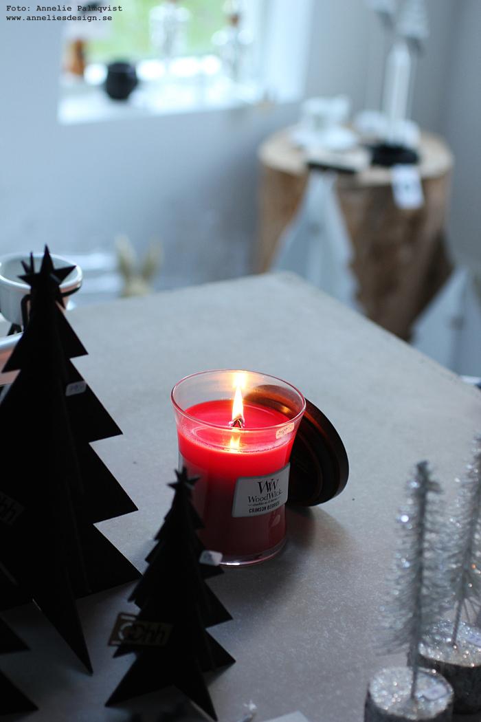 annelies design, woodwick, doftljus, jul, doft, ljus, sprakande veke, webbutik, webshop, nätbutik, inredning, varberg,