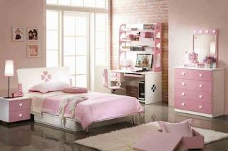 dormitorio color rosa adolescente