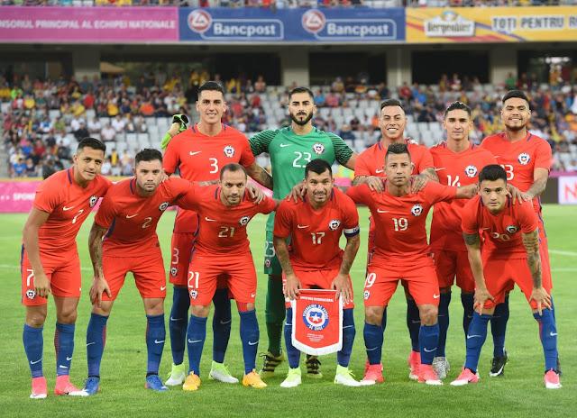 Formación de Chile ante Rumania, amistoso disputado el 13 de junio de 2017