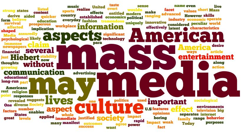 An analysis of the effects of mass media in american politics