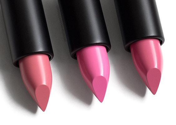MUFE Artist Rouge Creme Lipsticks Review C210 C205 C209