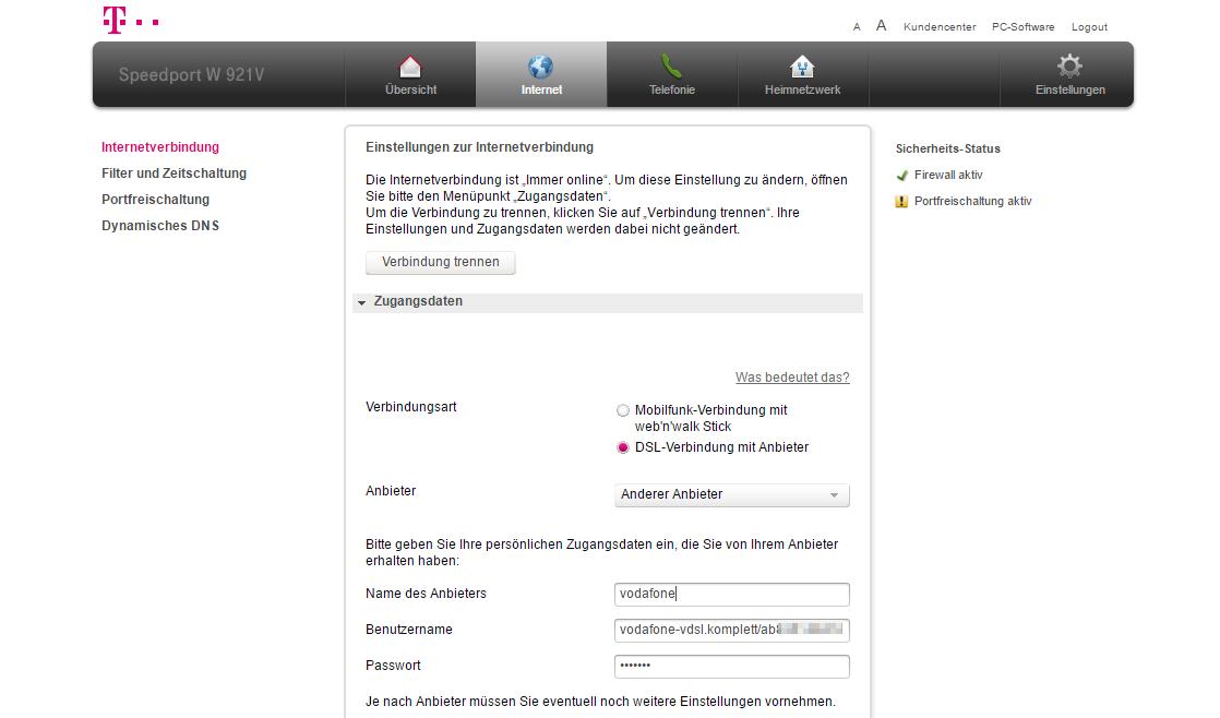 Telekom speedport w701v wlan router adsl2+ mit fritzbox firmware.