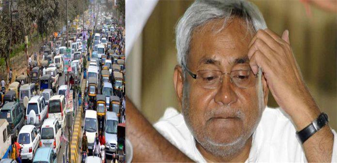 पटना के ट्रैफिक जाम में फंसे सीएम नीतीश कुमार ,पुलिस अधिकारियों में मचा हड़कंप और फिर