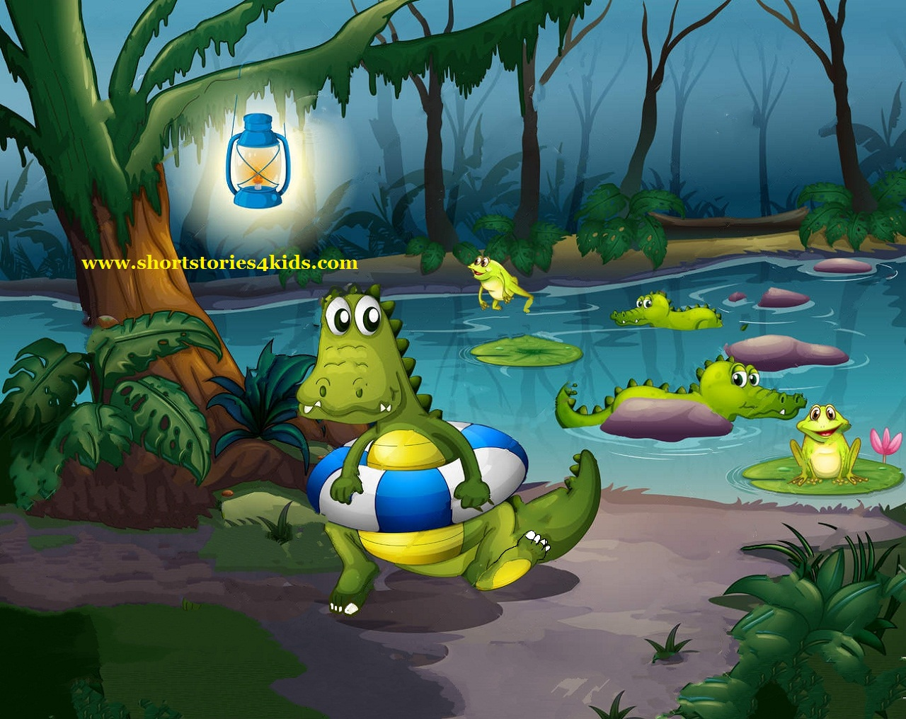 The Baby Crocodile and Friends - English Short Stories for Kids