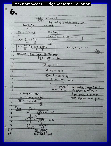 Trigonometric Equation Notes6