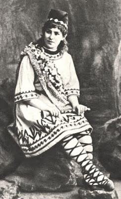 Yevgeniya Zbrueva as Lel in Rimsky Korsakov's The Snow Maiden at the Bolshoy Theatre, 1894